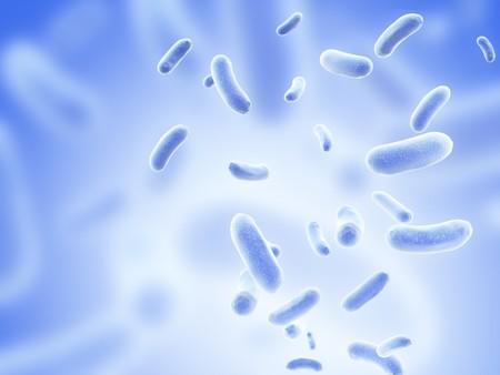 bacterie: Kolonie van pathogene virussen - 3d render