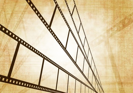 Grunge background - symbolical the image of a filmstrip photo