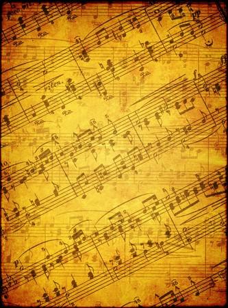 simbolos musicales: Fondo de grunge con s�mbolos musicales  Foto de archivo
