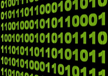 Internet concept - screen with binary code Stock Photo - 7523161