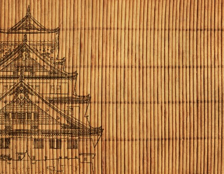 bamboo mat: Background - an ancient Japanese reed mat