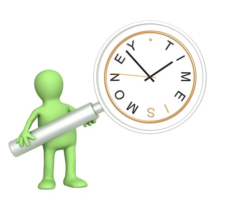 Time is money. Object over white Stock Photo - 7579755