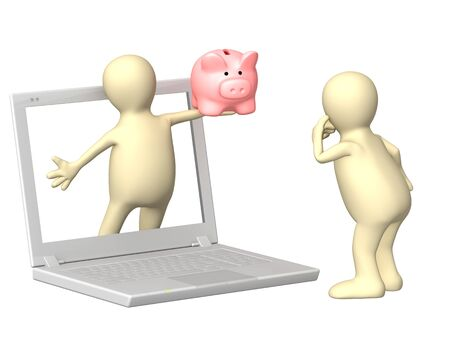 earnings: Conceptual image - earnings in the Internet Stock Photo