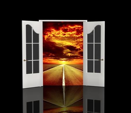 Der offenen Tür in der realen Welt Standard-Bild