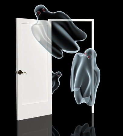 Dark series - ghosts, opening a door photo