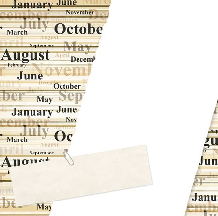 Grunge background with names of months photo