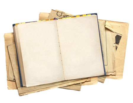 journals: Old book. Objects isolated over white