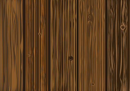 texture  - old wooden boards of brown color Vector