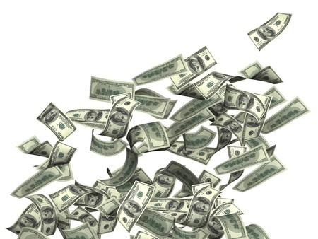 dinero volando: S�mbolo de riqueza y �xito - lluvia de d�lares