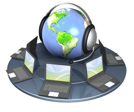 handsfree phone: Conceptual image - a support service