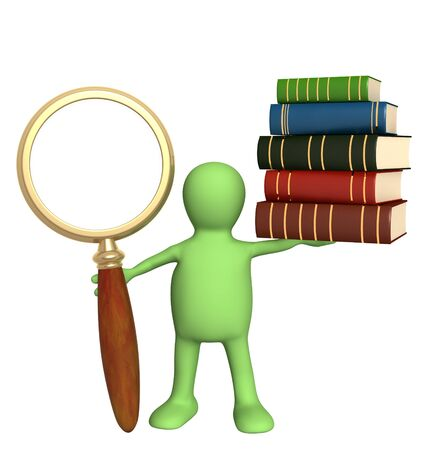 Information search in the books Stock Photo - 7995854