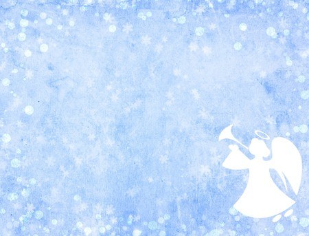 Christmas grunge background with angel photo