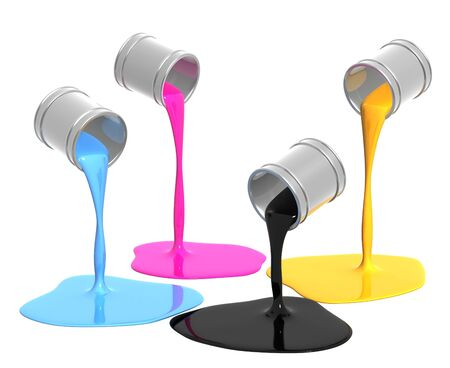 gallon: Palette CMYK. Objects isolated over white