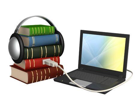 Conceptual image - new technologys. Audiobook Stock Photo - 8031623