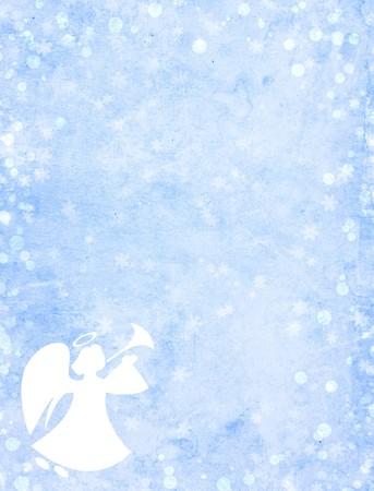 ange gardien: Arri�re-plan de grunge de No�l avec angel