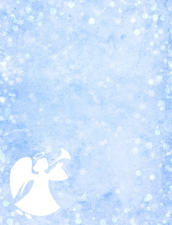 guardian: Christmas grunge background with angel
