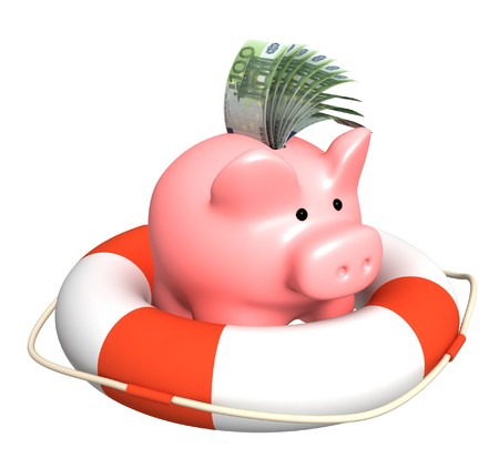 Conceptual image - help at recession