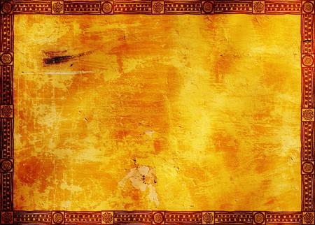 indio americano: Fondo - marco con los patrones tradicionales de indios americanos