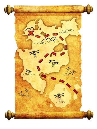 Pirate map. A way to treasure Stock Photo - 8141228