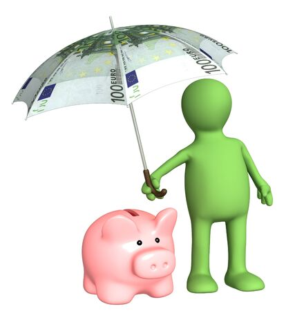 contributions: Financial protection - insurance of bank contributions Stock Photo