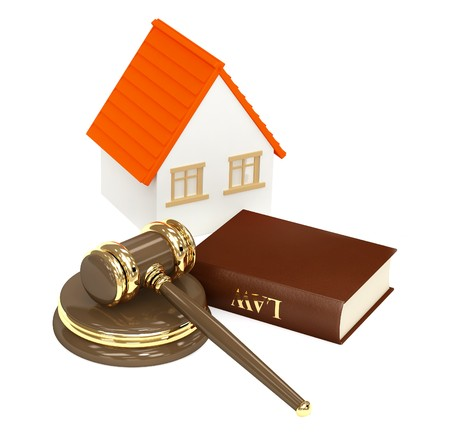 House and law. Object isolated over white photo