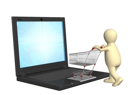 Conceptual image - virtual shopping. 3d Stock Photo - 8247486
