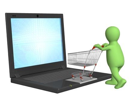 Conceptual image - virtual shopping. 3d Stock Photo - 8247485