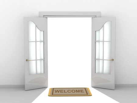 welcome sign: Conceptual image - a way to success