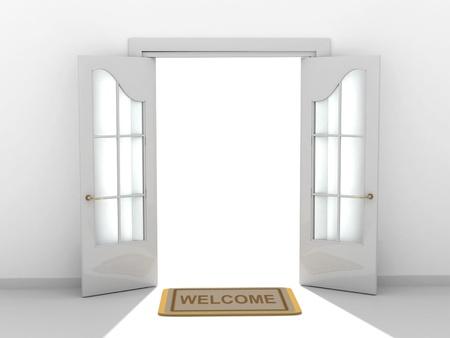 welcome door: Immagine concettuale - una strada per il successo Archivio Fotografico