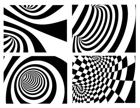 volute: Sfondo astratto - bianco e nero