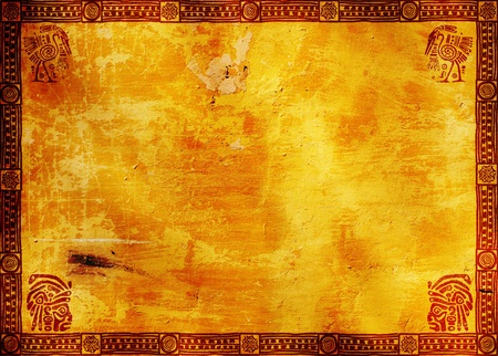 Horizontal background with American Indian traditional patterns photo