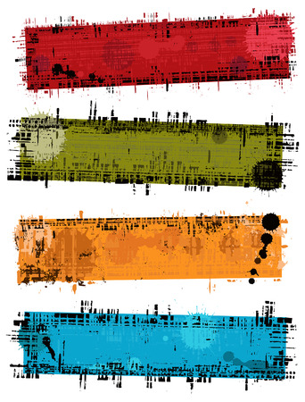 Set - vector banners with grunge texture Vector