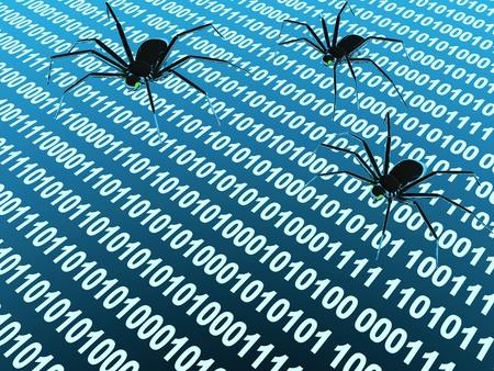 penetracion: Penetraci�n en un equipo de un virus de Internet Foto de archivo