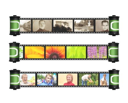 Memories - retro and modern photos with filmstrip photo