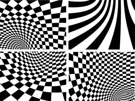 Abstract   backgrounds - black and white Vector