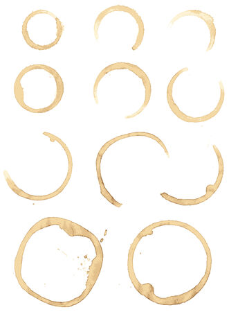 Collection  stains of coffee for grunge design Vector