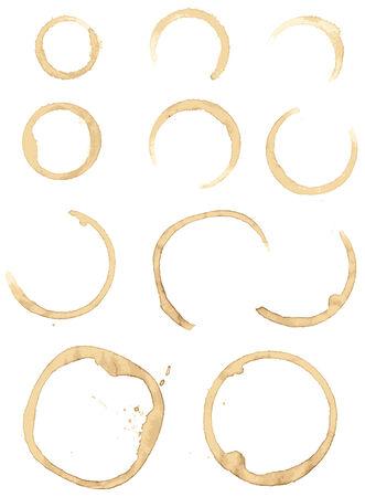 Sammlung Flecken Kaffee für Grunge-design