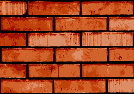 brickwork: Vector texture of old brick wall