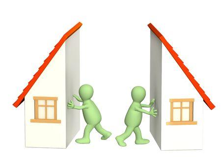 arbitrar: Imagen conceptual - Divisi�n de propiedad en divorcio Foto de archivo