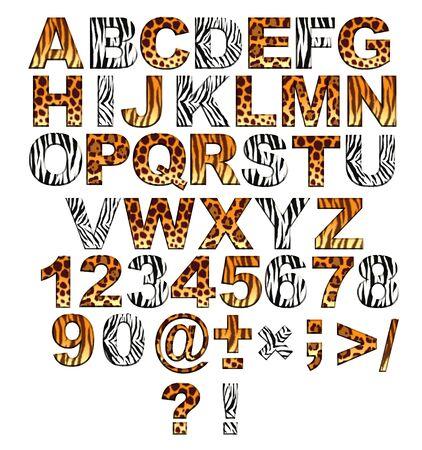 typesetter: Alphabet in style of a safari