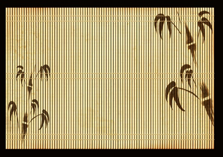 ancient tradition: Background - an ancient Japanese reed mat