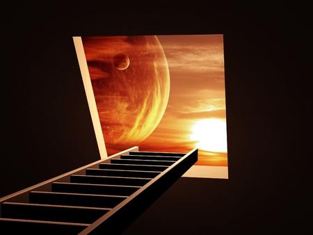 Conceptual image - way to imagination Stock Photo - 8948494