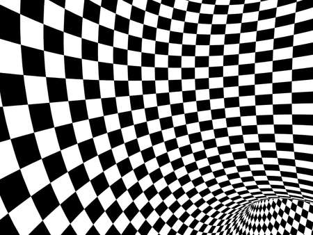 Abstract illusion. Black and white photo