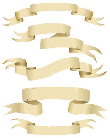 parchment texture: Collezione di vettore di antiche pergamene