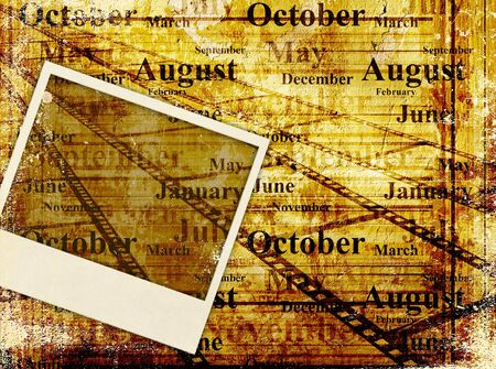 Grunge background with old image and paper texture Stock Photo - 9098711