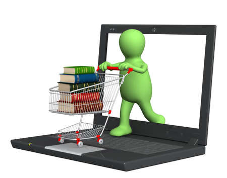 Conceptual image - library online. 3d render Stock Photo - 9249871