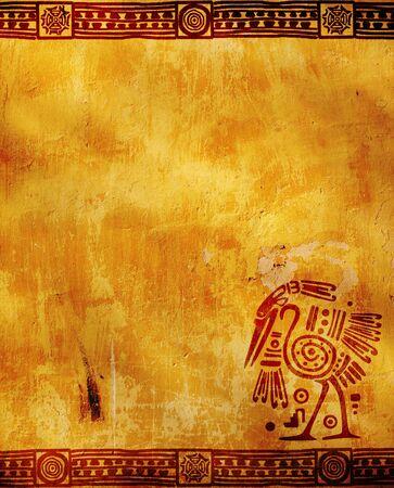 cultura maya: Fondo vertical con los patrones tradicionales de indios americanos Foto de archivo