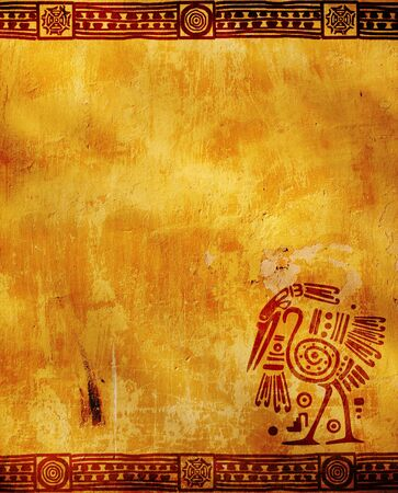 mayan culture: Vertical background with American Indian traditional patterns