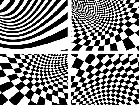 volute: Abstract vector backgrounds - black and white Illustration