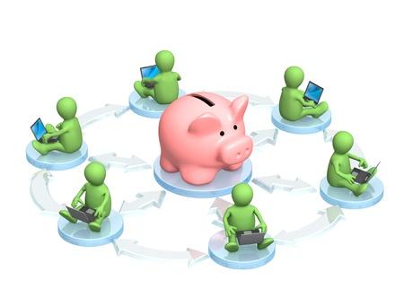 bank accounts: Conceptual image - virtual bank accounts